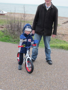 1st ride on my balance bike
