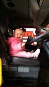 Florence is a budding Fire Engine driver.
